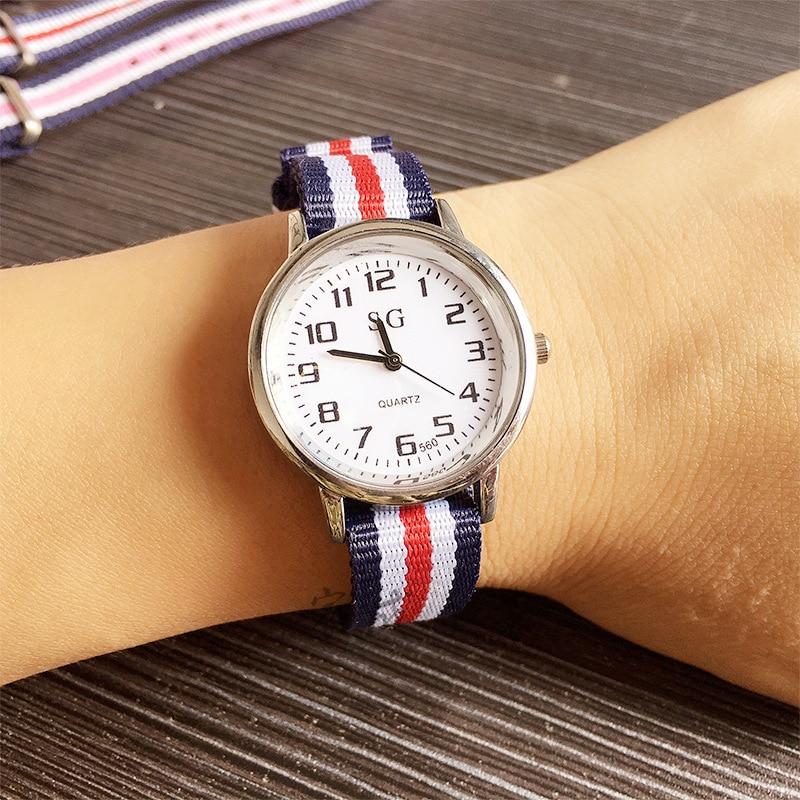 2019 New Nylon Strap Military Men Watch For Kids Girls Boys Sports Watch Children Watches Quartz Movement Casual Wristwatches