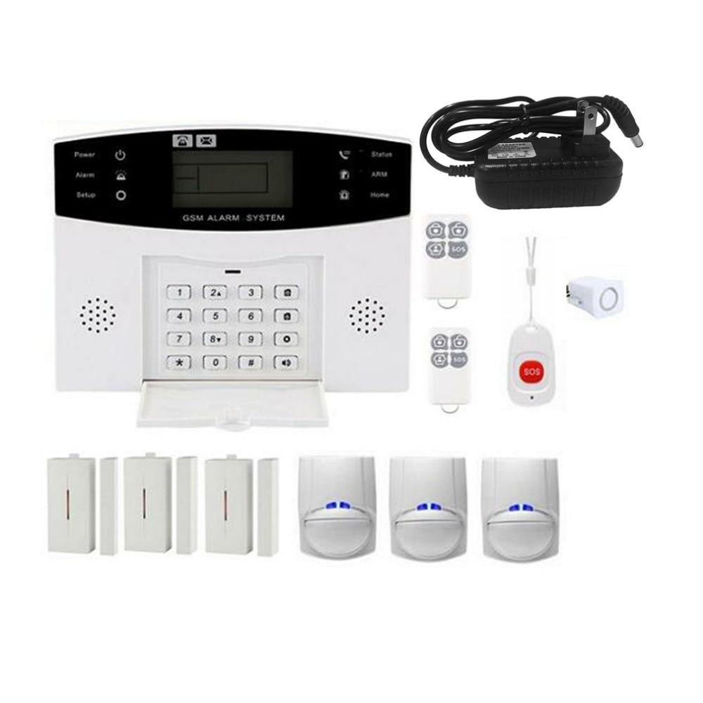 GSM Wireless Home Burglar Alarm System SOS Motion Door Window Sensor Security Auto Home Security Safe Alarm SystemGSM Wireless Home Burglar Alarm System SOS Motion Door Window Sensor Security Auto Home Security Safe Alarm System