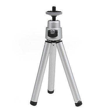 Mini Flexible Tripod Portable For Camera Silver Color