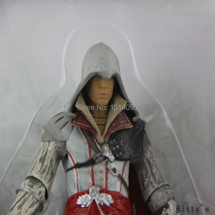 718cm NECA Assassin's Creed II EZIO PVC Action Figurine Collection Toy Model White AC006 neca marvel legends venom pvc action figure collectible model toy 7 18cm kt3137