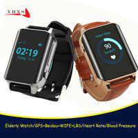 GPS WIFE LBS Tracker Watch for Elderly People Child Wristwatch SOS Call Safe Anti Lost Remote Heart Rate Monitoring Watch