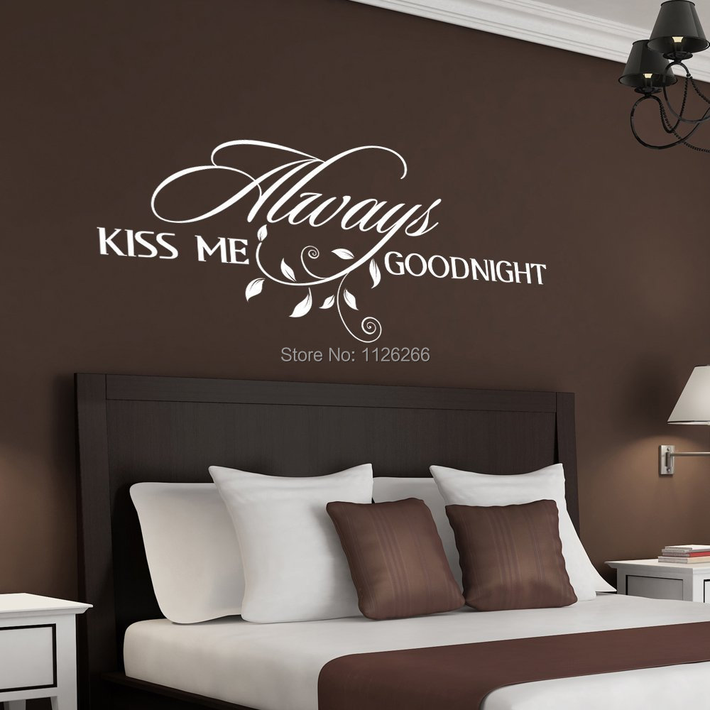 Aliexpress.com : Buy Always Kiss Me Goodnight Loving Art