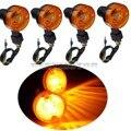 4 UNIDS Motor de Dirección de La Luz de Señal de Vuelta de La Motocicleta Luz Indicadora Ámbar