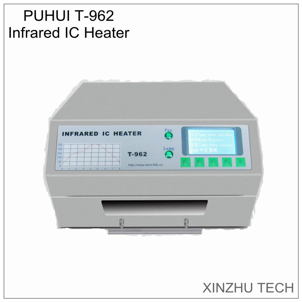 PUHUI T-962 Infrared IC heater T962 reflow wave oven solder BGA SMD SMT rework station T-962 reflow