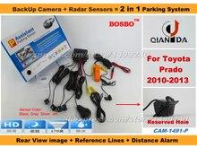 For TOYOTA Prado 2010-2013 – Car Parking Sensor + Rear View Camera(Reserved hole) 2 in 1 Assistance System – 4 Radars