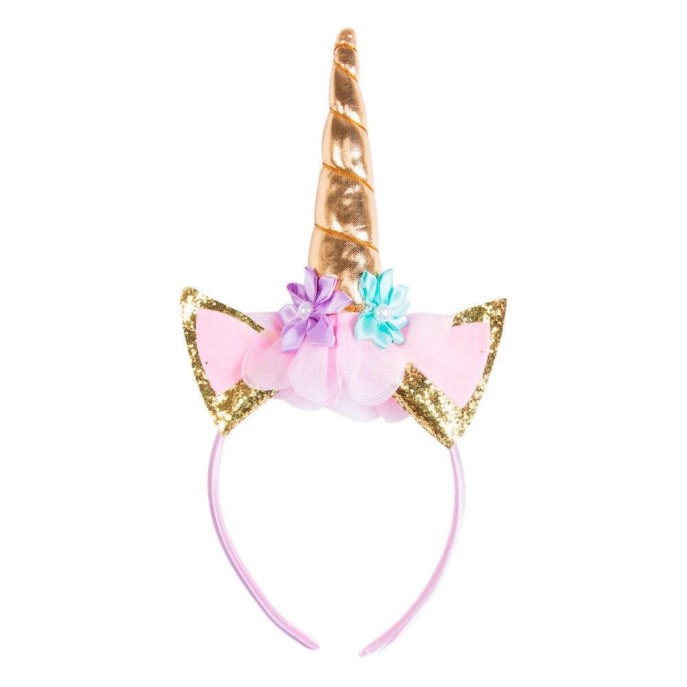 Unicorn Horn Head Kid Headband Fancy Dress Cosplay Party  Headwear