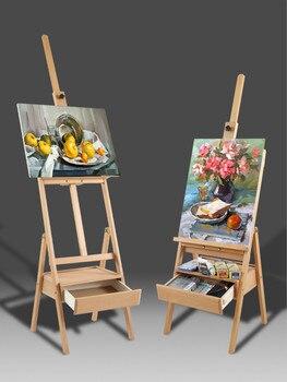 Caballete con cajón Caballete De Pintura al óleo artista soporte De Pintura...