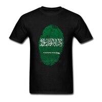 Простой Стиль короткий рукав Футболки для девочек Саудовская Аравия Флаг отпечатков пальцев-подростков черная рубашка экипажа Средства ух...