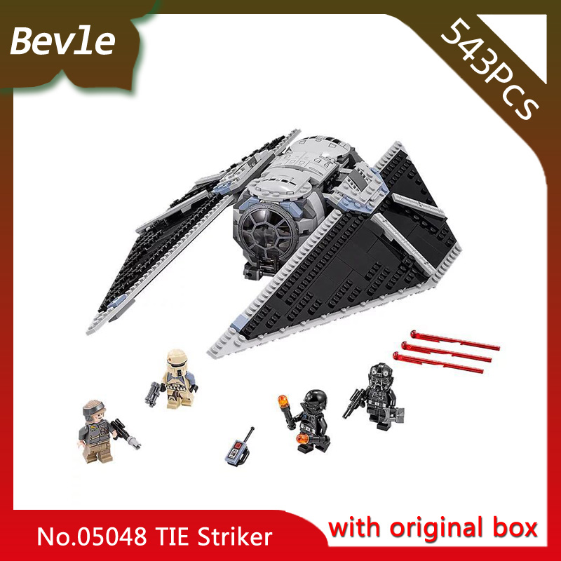 Bevle Store LEPIN 05048 543Pcs With Original box star wars series The TIE Striker Building Blocks Bricks For Children Toys 75154 bevle store lepin 22001 4695pcs with original box movie series pirate ship building blocks bricks for children toys 10210 gift