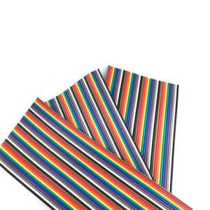 Image 2 - 10 Meters Rainbow Ribbon Cable Premium Standard 7*0.127mm 28AWG Pitch 12 Pins Flat  Wires Colorful Rainbow Ribbon Cable