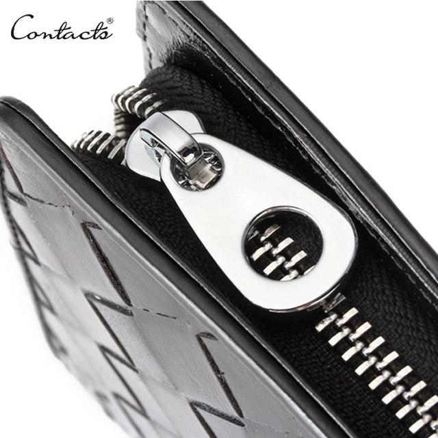 Męski skórzany elegancki portfel CONTACTS