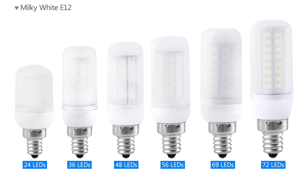 TSLEEN Free Shipping! 10PCS E12 LED Lamp 110V SMD 5730 LED Light 24 36 48 56 69 72 LEDs Corn Bulb Chandelier For Home Lighting led lamp corn bulb spotlight smd 5730 lampada led e27 high power 220v 240v lamparas 24 36 48 56 69 72 96 leds warm cold white