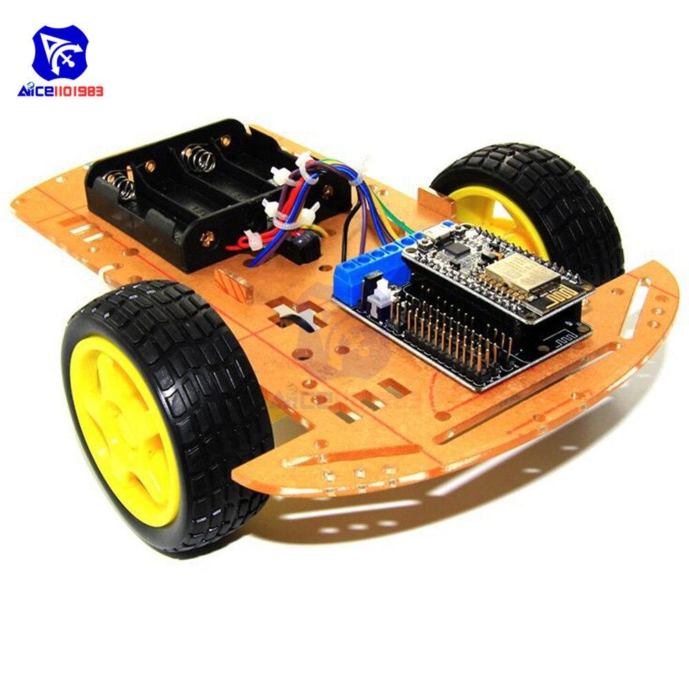 2WD RC Smart Car Chassis L293D NodeMcu Motor Shield ESP8266 ESP-12E WiFi Module Speed Encoder For Arduino Education Smart Car