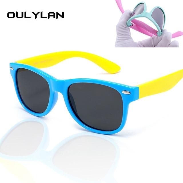 Oulylan Polarizada Óculos De Sol Crianças Candy Cor Meninos Meninas Óculos  de Sol Óculos de Segurança 72f48ee6ea