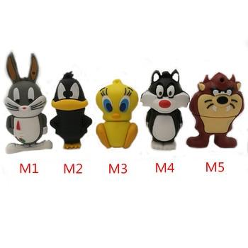 Cartoon looney tunes usb flash drive 64gb 32gb 16gb 8gb 4gb memory stick pendrive bugs bunny daffy duck pen cle usb2.0