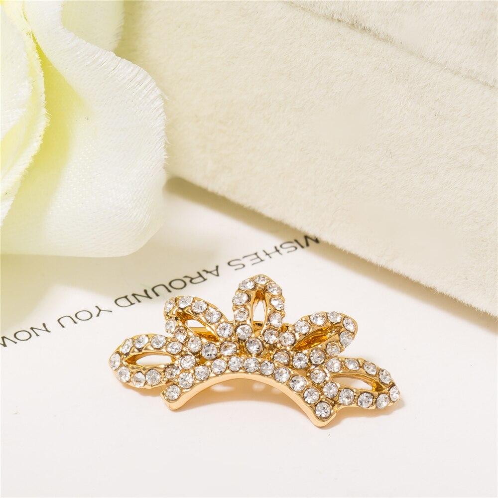 I mostrar nueva broche de cristal broche corona Pasadores y broches lindo  mama Pasadores oro de color y regalo para hombre y mujer 04c3b9691b0