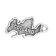 my shape 15*23mm Country Map Scotland Patriotic Charm Travel Jewelry 20pcs(China)