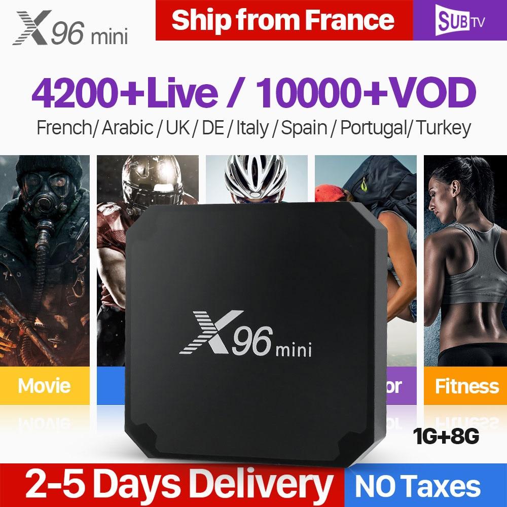 X96 MINI IPTV France Subscription Code SUBTV Android 7 1 S905W 4k Full HD Live IPTV