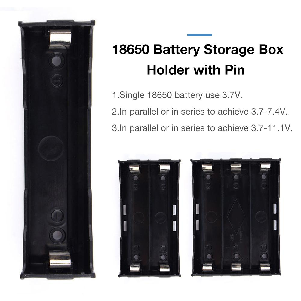 18650 Battery Box 3.7V Lithium Battery Box With Pin Type 1 / 2 / 3 Battery Holder PCB Storage Case