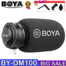 BOYA BY-DM100 MIC Digital Stereo Phone Microphone Condenser Android Record Microphone Type-C Port for Recording Interview USB boya by pm700 usb condenser microphone with flexible polar pattern for windows and mac computer recording interview conference