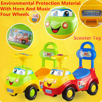Cute Sliding Car Toy Children Pedal Scooter Car With Music Toddler Baby Swing Car Walker