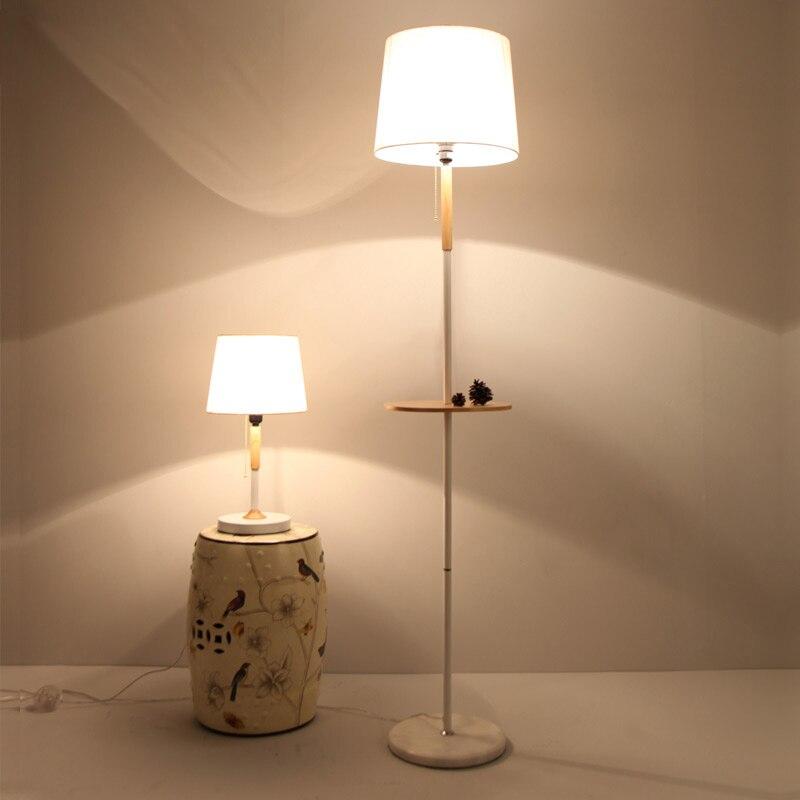 Korea Style Wood Study Room Living Bed Floor Lamp Lampada Luminarias Home Decoration Lighting
