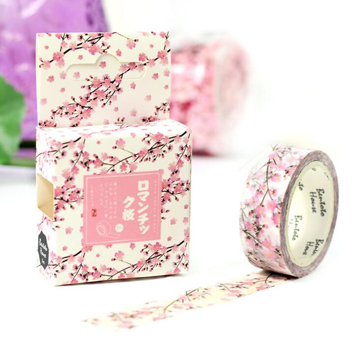 JA221  Romantic Season Of Cherry Decorative Washi Tape DIY Scrapbooking Masking Tape School Office Supply Escolar Papelaria