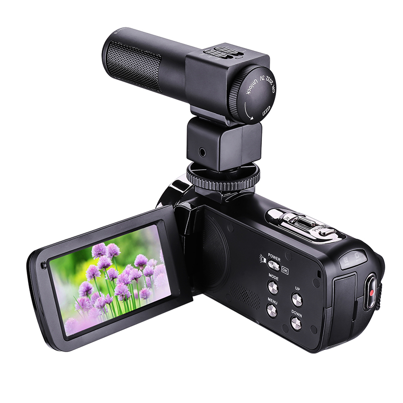 HD Digital Camera with Mic Remote Control Digital Video Camcorder DV IR 16x Zoom 3.0 TFT Screen Professional Webcam hd 55e 2 7 tft cmos 16mp interpolation digital camcorder w 16x digital zoom black