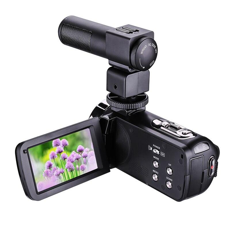 HD Digitale Della Macchina Fotografica con Il Mic A Distanza di Controllo Digital Video Camcorder DV IR 16x Zoom 3.0