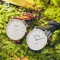 Мужские и женские кварцевые часы Bestdon  ультратонкие водонепроницаемые часы с кожаным ремешком в японском стиле  2019