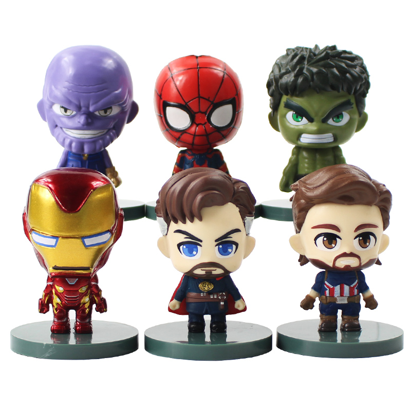8pcs//set Avengers Thanos Bat Iron Men Captain America Thor Hulk Figures