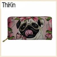 Thikin-Women-Wallets-for-Credit-Card-Ladies-Pug-Dog-Print-Long-Money-Bag-Females-Kawaii-Puppy