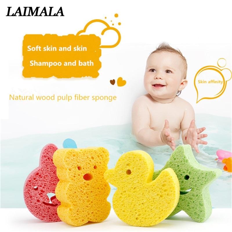 Seestern Form Baby Bad Schwamm Infant Dusche Baumwolle Peeling Körper Bad Pinsel Spa Schwamm Reinigung Weich Für Baby 783567 Mutter & Kinder Bad & Dusche Produkt