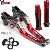 Motorcycle Accessories Folding Brake Clutch Levers Handlebar handle grips motorbike FOR HONDA CBR600F CBR 600 F 2011 2012 2013