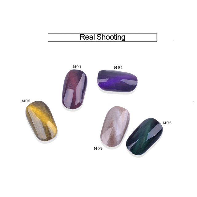 Cat Eye Magnet Magic Mirror Powder Dust UV Gel Polish Nail Art Glitter Pigment