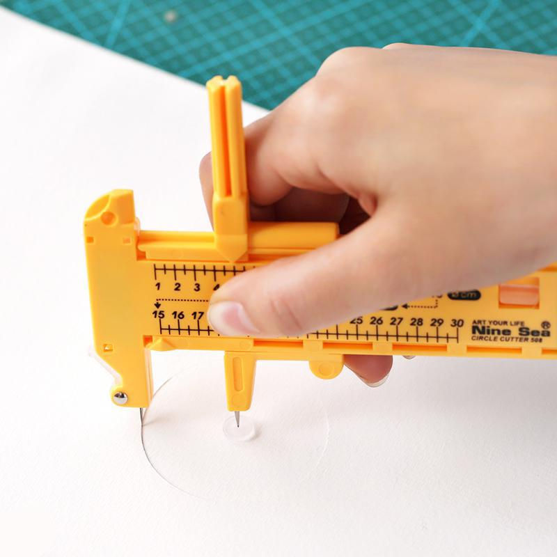Hand-cut Compass Knifes Handmade Fabric Diy Cut Round Utility Knife Cutter Knife Paper Stationery Papelaria