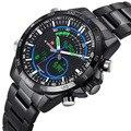 2016 Luxury Brand Top NAVIFORCE Men's Quartz Digital Watch Men Sports Watches Military Army Full Steel Men Wrist Watch LED Clock