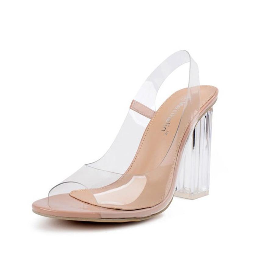 Summer Transperant Heel Shoe