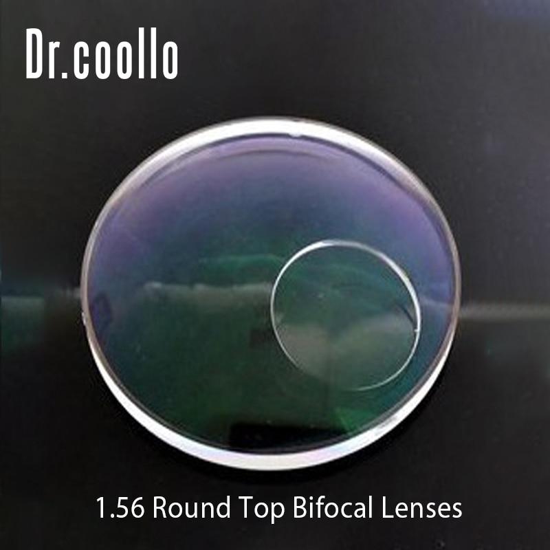 1.56 Round Top Bifocal Optical Lenses Far Vision Presbyopia Prescription Lenses Hyperopia Optical Spectacles Lens