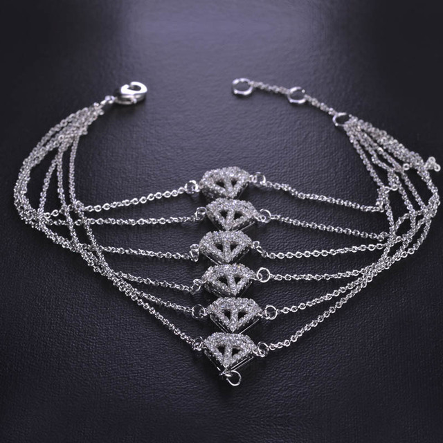 Blucome Luxury CZ Platinum Plated Bracelet With Aros For Women Gothic Iron Man Arc Reactor Moive Hand Accessories Copper Pulsera