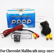 Стоянка для автомобилей Камера Для Chevrolet Malibu девятого 2015 ~ 2017/Провод или Беспроводной HD Широкоугольный Объектив CCD Ночного Видения Заднего Вида камера