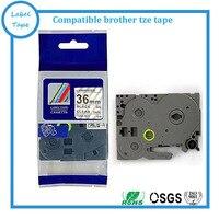 Fita TZ compatível tz161 TZ 161 Preto Em tze161 Claro P toque rótulo tz 161|tz tape|p-touch tape|label tape -