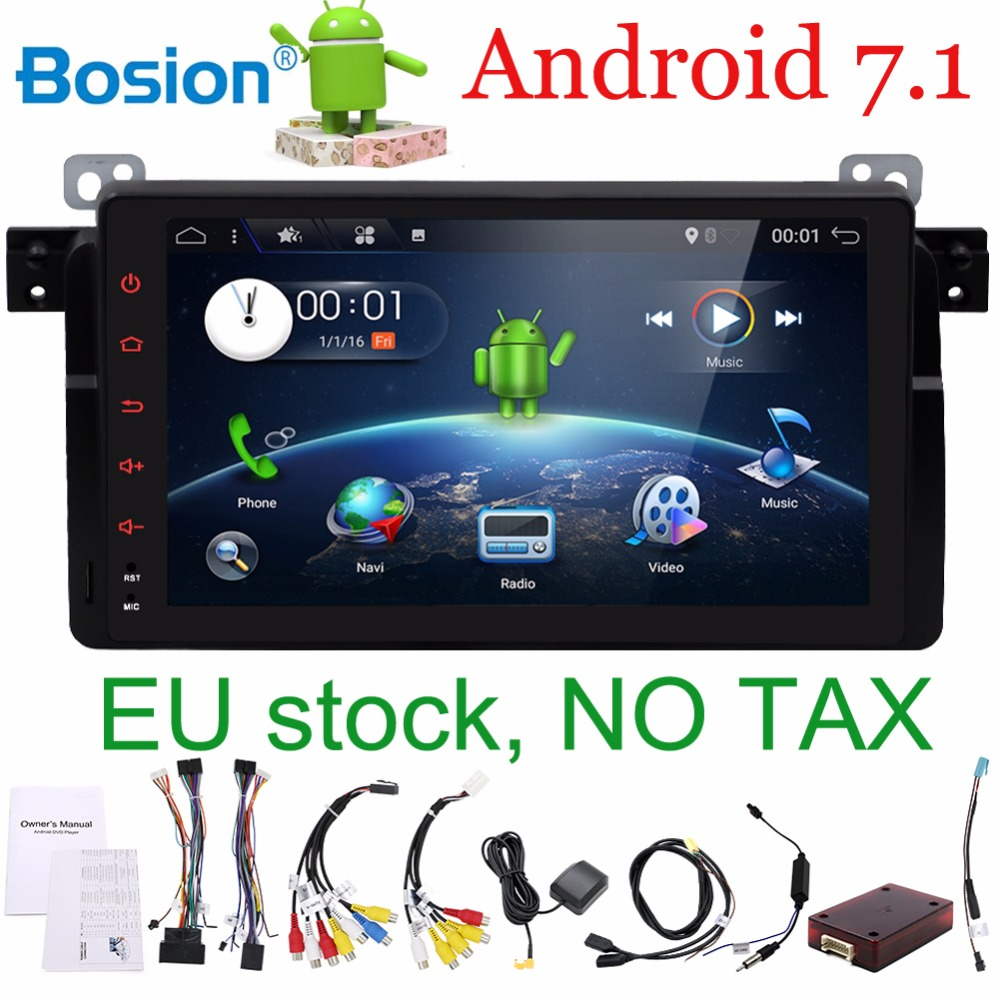 Android 7.1 for bmw E46,M3 Autoradio car gps navigation, wifi, radio, bluetooth, Steering wheel Canbus, Map ready, Touch screen цена в Москве и Питере