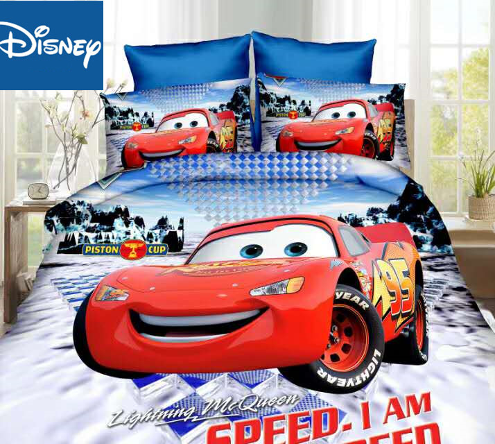 McQueen Car Bedding Set Single Size Bed Sheet Duvet Cover For Boys Room Twin Bedspread Coverlets 3d Printed 2/3/4 Pcs Hot  Sale