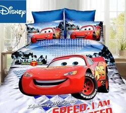 Mcqueen jogo de cama do carro único tamanho folha capa edredão para o quarto dos meninos colcha dupla 3d impresso 2/3/4 pcs venda quente