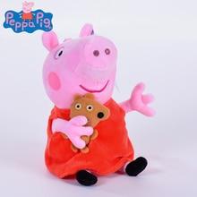 genuine 1PCS 19-30CM pink Peppa Pig Plush pig Toys high quality hot sale Soft Stuffed cartoon Animal Doll For Children's Gift