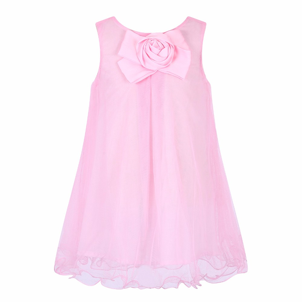 Kids Dress Girls Party Dresses Wedding 2017 Summer Baby Girls Costume Elsa Dress Flower Reine Fes Neiges Mesh Princess Dress baby girls flower dresses for weddings enfants party dress sweet princess one piece elsa costume sleeveless o neck 5 colors