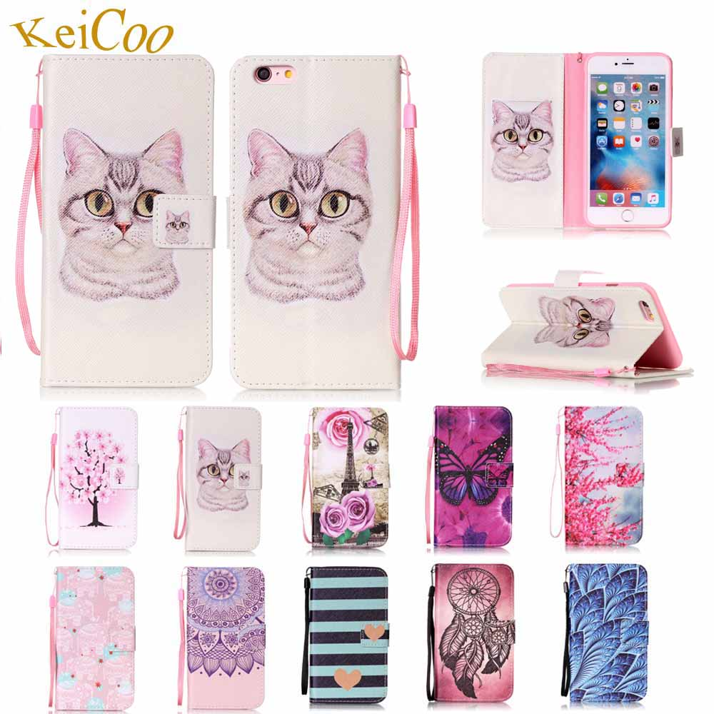 For Apple iPhone 6Plus 5.5 inch Brand Art Book Flip PU Leather Cases For Apple iPhone 6 Plus iPhone6Plus Cute Card Holder Covers