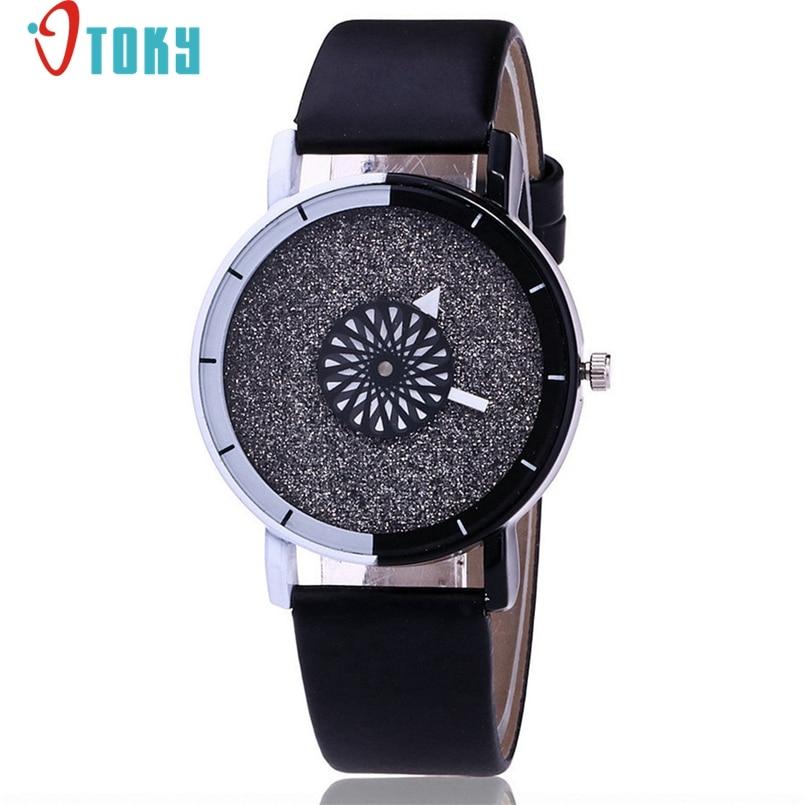 Excellent Quality Women Watch Montre Womens Crystal Diamond Watches Analog Leather Quartz Wrist Watch Female Dress Relogio