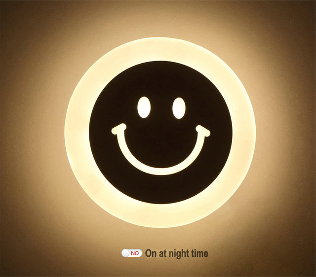 Modern smile face led wall lamp small animal football novelty modern smile face led wall lamp small animal football novelty acrylic night light for home decoratoion mozeypictures Images
